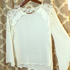 Etched White Lace Top